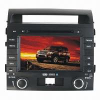 Car DVD Player with GPS System and 8-inch Touch Screen, 12V DC Power Supply Manufactures