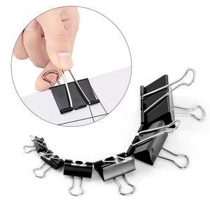 China Fancy Office Black Folder Binder Paper Clip  metal folder iron binder paper clip on sale