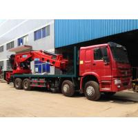 China Hydraulic Truck Mounted Crane 25 Tons XCMG , Hydraulic Knuckle Boom Crane on sale