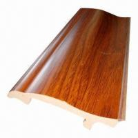 Imitation wood decorative PVC skirting board for home Manufactures