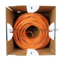 China PE Insulation Network Cat5e SFTP Cable Lan Cables 500 m/roll Orange wholesale
