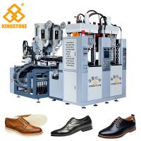 Men Leather Shoes Sole Injection Molding Machine , 2 Colors TPR Sole Making Machine Manufactures