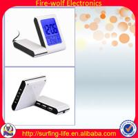 With 3USB-HUB alarm clock,Charming alarm clock manufacture & factory,Travel clock Manufactures
