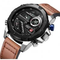 Men Genuine Leather Strap Dual Time  analog digital watch waterproof 30m best mens sport watches Manufactures