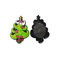 Xmas Tree Shape Soft Fridge Magnets Eco Friendly Raw Materials 3D Effect Manufactures