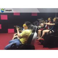 Interactive Shooting Game 7D Cinema Equipment Simulator Motion Seats With Cabin Box Manufactures