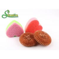 Safe Cleaning Steel Wire Copper Scouring Pads Mesh Design No Falling Broken Bits Manufactures