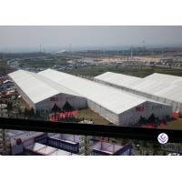 China Big Capacity Outdoor Exhibition Tents , Trade Show White Party Tent on sale