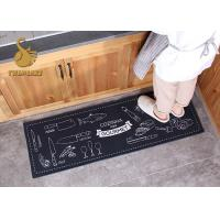 Eco Friendly Washable Kitchen Rugs Heat Transfer Print OEM / ODM Available Manufactures