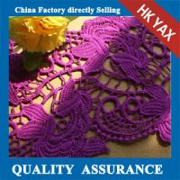China High quality environmental Elegant lace for purple lace fabric,purple embroidery lace fabric,purple lace fabric on sale