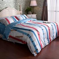 High Yarn Cotton Sateen Bedding Sets ,Striped Design  Pillowcase Sets Manufactures