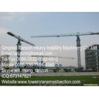 TCP6512-10 Leg Fixing Type Flat Top Tower Crane,China Machinery Manufacturer Q345B Steel Manufactures