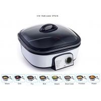 Quality Glass Cover Electric Multi Cooker 8 IN 1 Copper Wire PP Shell Base Lightweight for sale