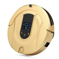 China Gold Automatic Floor Cleaner Robot / Floor Vacuum Cleaner Robot Anti Dropping on sale
