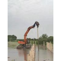 32Mpa Concrete Pile Driving Equipment , Excavator Mounted Sheet Pile Driver Manufactures