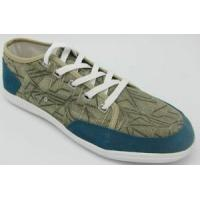 Canvas Shoes (KS-286 GREY CANVAS BLUE COW SUEDE SPL3) Manufactures