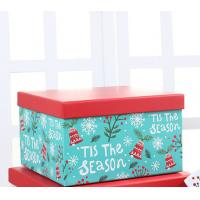 China Square Christmas Gift Box Packaging , Cardboard Boxes For Christmas Presents on sale