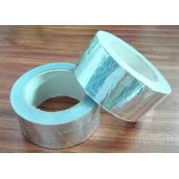 Quality Silver One Side Adhesive Soundproof Fiberglass Tape 10m Length Heat Insulating for sale