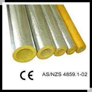 China Fiberglass insulation glass wool pipe shell aluminum cladding on sale
