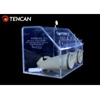 Transparent Laboratory Glove Box , 10mm/15mm/30mm Thickness Acrylic Glove Box Manufactures