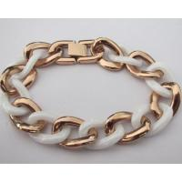Hot Selling Rose Gold Stainless Steel Fashion Ceramic Bracelets for Women Manufactures