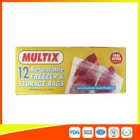 Supermarket Plastic Freezer Zip Lock Bags / Zip Seal Food Freezer Bags Manufactures