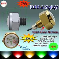 RGB 27w 1800lm led underwater light Manufactures