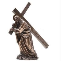Religion Large metal Jesus cross bronze sculpture,customized bronze statues, China sculpture supplier Manufactures