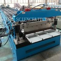 China LYSAGHT KLIP-LOK 406 Roll Forming Machine Drive by Chain with 5T Manual Decoiler on sale