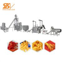Fried Or Baked Snack Production Line Corn Curls Extruder Machine Manufactures