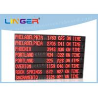 Single Red Color Led Programmable Scrolling Sign , Led Scrolling Message Board 8 Lines Manufactures