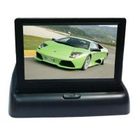 3.5 inch Flip Down Car Lcd Monitor Two Video Input Foldable Car Monitor Manufactures