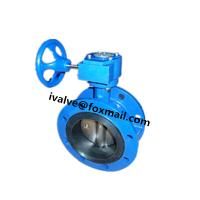 DN300 Cast Iron Double Flanged Butterfly Valve Manufactures