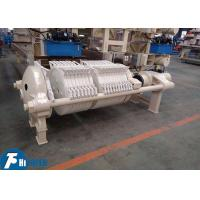 800*800mm Round Plate Filter Press Equipment For Clay / Kaolin Industry Manufactures