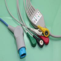 HOT!Siemens 3-lead ECG cable with 10pin and AHA snap for patient monitor,CE&ISO13485 proved Manufactures