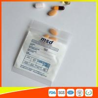 Clear Small Ziplock Bags For Pills , Disposable Air Tight Zip Lock Bags Manufactures