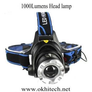 LED miner headlight 1000Lumens Adjustable beam mining camping hunting fishing hiking Manufactures