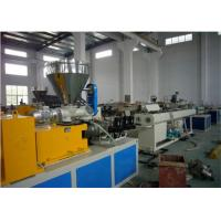 High Efficiency Plastic Extrusion Machine Pvc Pipe Making Machine With Twin Screw Manufactures