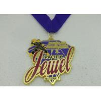 Buy cheap Full Printing Enamel Ribbon Medals , Die Stamping Full 3D Judo Medals from wholesalers