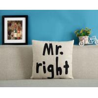 Mr and Mrs couple cushion,keep calm and carry on cushion,alphabet letters print cushion Manufactures