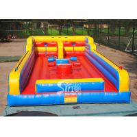 3in1 kids N adults interactive inflatable bungee run with joust poles from China inflatable factory Manufactures