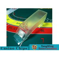 Poker Game Necessary Casino Card Shoe Using Thick High - Density Plexiglass Manufactures