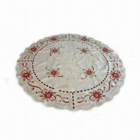 China Table Linen with Print Design, Made of 100% Polyester on sale