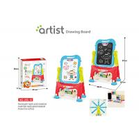 67 CM Height Unisex Kids Magnetic Drawing Board 12 Chalks Painting Blue Manufactures