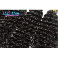 Quality Deep Curl Indian Temple Hair Natural Black One Donor No Lice Hair for sale