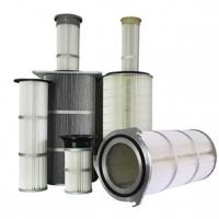China Dust Collector Industrial Air Filter Cartridge Waterproofing Finishing Treatment on sale