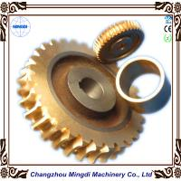 Copper Ra 0.4 - 0.8 Stepper Motor Single Hellical Worm Gear Parts for Worm Gearbox Manufactures