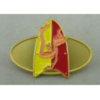 Classic Embossed Soft Enamel Recognition Pins With Gold Plating Manufactures