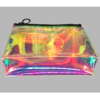 Shining Jewelry Promotional PVC Bags , Holographic Cosmetic Bag With 0.25MM Thickness Manufactures