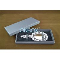 Lid Off Packer Design Solid Cardboard Box With 2 Alternative Insert Pads For Big Necklace And Mirror Manufactures